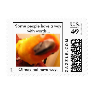 Some peo...Some People Have A Way With Words... Postage Stamp