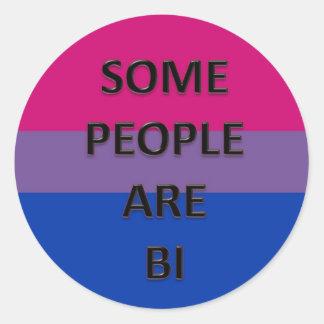 Some People Are Bi Classic Round Sticker