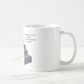 Some people are like slinkies. coffee mug