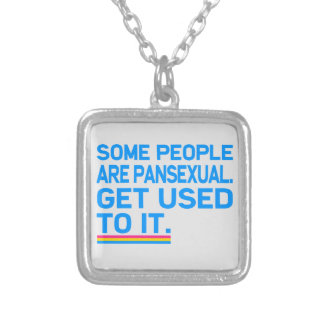 Some people are pansexual. Get used to it. Silver Plated Necklace