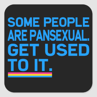 Some people are pansexual. Get used to it. Square Sticker