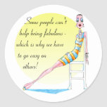 Some people can't help being fabulous sticker