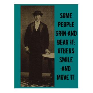 Some People Grin & Bear it... Postcard