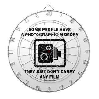Some People Have A Photographic Memory (Camera) Dartboard With Darts