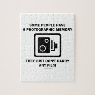 Some People Have A Photographic Memory (Camera) Jigsaw Puzzle