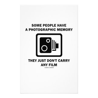 Some People Have A Photographic Memory (Camera) Stationery