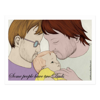 Some people have two Dads Postcard