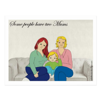 Some people have two Mums Postcard