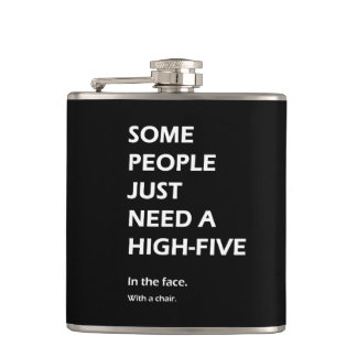 Some People Just Need A High Five Sarcastic Hip Flask