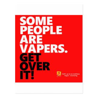 Some people vape,Get over it Postcard