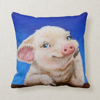 Some Pig by TACS 16x16 cotton throw pillow