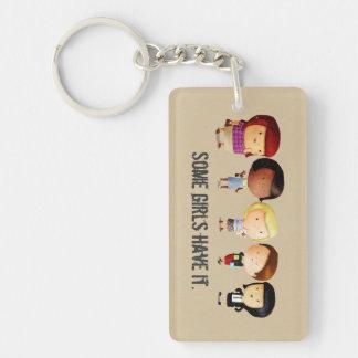 Some Subculture Girls Single-Sided Rectangular Acrylic Keychain