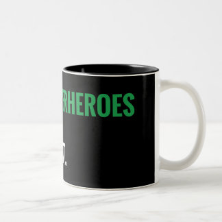 Some Superheroes Are Gay.  Get Over It. Two-Tone Coffee Mug