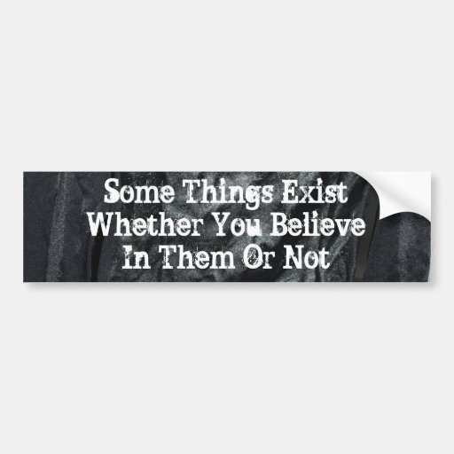 Some Things Exist Bumper Sticker