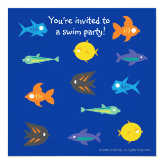 Some Things Fishy_You're invited to a swim party! Card