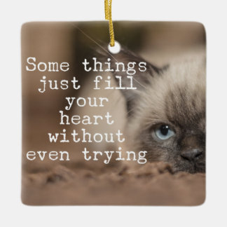 Some Things Just Fill Your Heart Ceramic Ornament