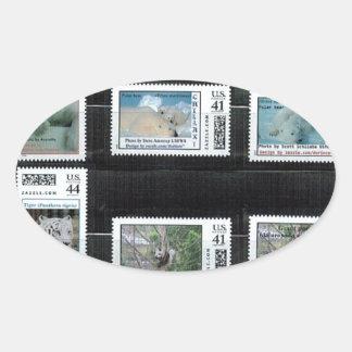 Some Zazzle custom stamps by dorinco Oval Sticker