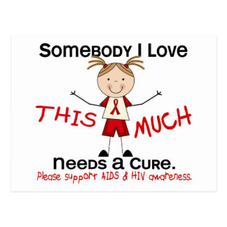 Somebody I Love - AIDS (Girl) Postcard