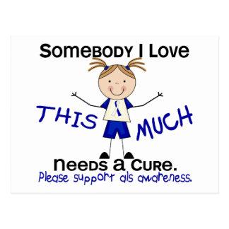 Somebody I Love - ALS (Girl) Postcard