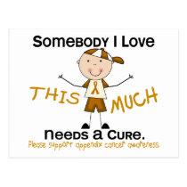 Somebody I Love - Appendix Cancer (Boy) Postcard