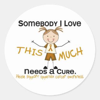 Somebody I Love - Appendix Cancer (Girl) Classic Round Sticker
