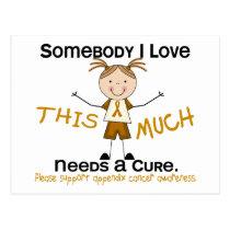 Somebody I Love - Appendix Cancer (Girl) Postcard