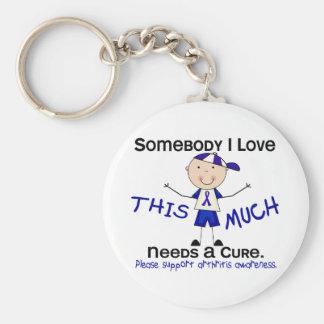 Somebody I Love - Arthritis (Boy) Basic Round Button Keychain