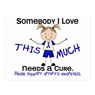Somebody I Love - Arthritis  (Girl) Postcard