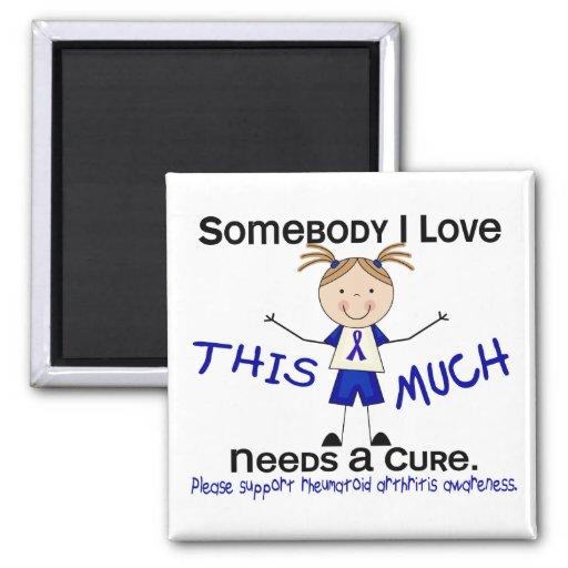 Somebody I Love - Arthritis Rheumatoid (Girl) 2 Inch Square Magnet