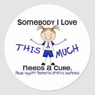 Somebody I Love - Arthritis Rheumatoid (Girl) Classic Round Sticker