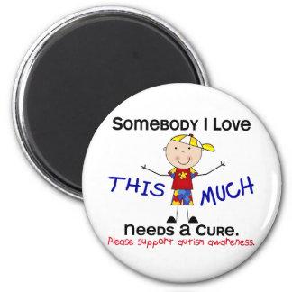 Somebody I Love - Autism (Boy) 2 Inch Round Magnet