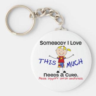 Somebody I Love - Autism (Boy) Basic Round Button Keychain