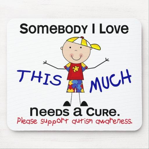 Somebody I Love - Autism (Boy) Mousepad