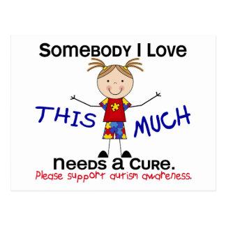 Somebody I Love - Autism (Girl) Postcard