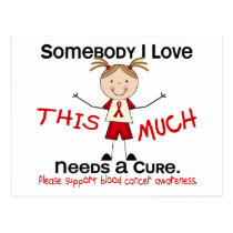 Somebody I Love - Blood Cancer (Girl) Postcard