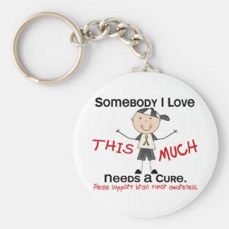 Somebody I Love - Brain Tumor (Boy) Basic Round Button Keychain