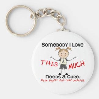 Somebody I Love - Brain Tumor (Girl) Basic Round Button Keychain