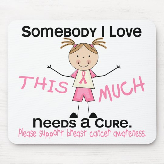 Somebody I Love - Breast Cancer (Girl) Mouse Pad