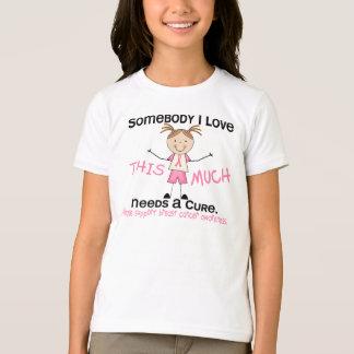 Somebody I Love - Breast Cancer (Girl) T-Shirt