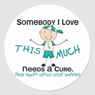 Somebody I Love - Cervical Cancer (Boy) Classic Round Sticker