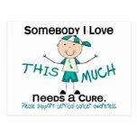 Somebody I Love - Cervical Cancer (Boy) Postcard