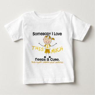 Somebody I Love - Childhood Cancer (Boy) Baby T-Shirt