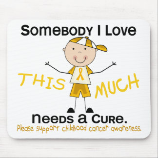 Somebody I Love - Childhood Cancer (Boy) Mouse Pad
