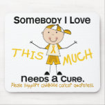 Somebody I Love - Childhood Cancer (Boy) Mouse Pads