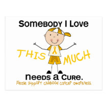 Somebody I Love - Childhood Cancer (Boy) Postcard