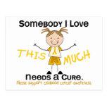 Somebody I Love - Childhood Cancer (Girl) Postcard