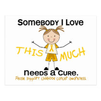 Somebody I Love - Childhood Cancer (Girl) Postcard