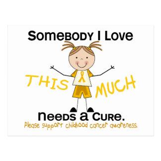 Somebody I Love - Childhood Cancer (Girl) Postcards