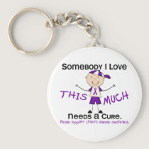Somebody I Love - Crohns Disease (Boy) Keychain
