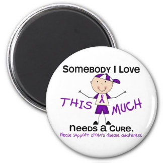 Somebody I Love - Crohns Disease (Boy) Magnet